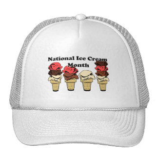 National Ice Cream Month Hats