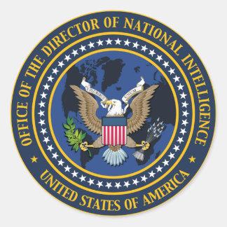 National Intelligence Director Classic Round Sticker