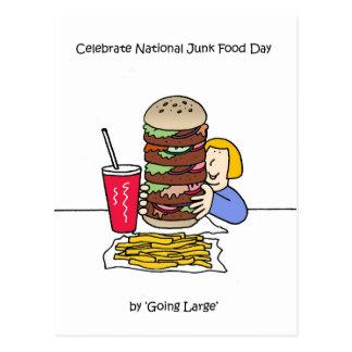 National Junk Food Day July 21st Postcard