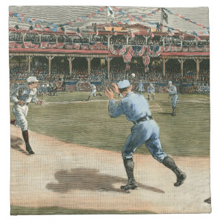 National League Baseball Game 1886 Cloth Napkin
