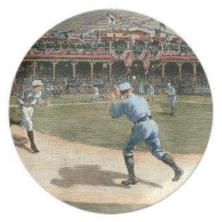 National League Baseball Game 1886 Dinner Plates