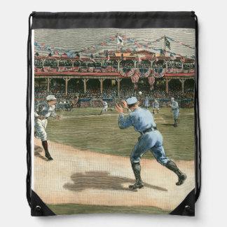 National League Baseball Game 1886 Drawstring Bag