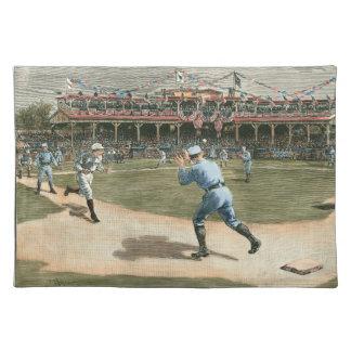 National League Baseball Game 1886 Placemat