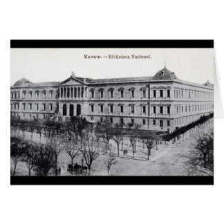National Library, Madrid, Spain c1910 Vintage Card