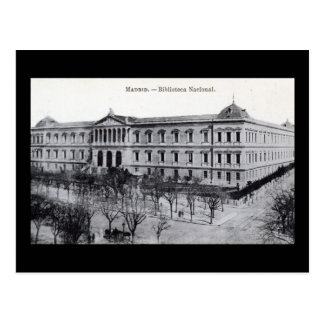 National Library, Madrid, Spain c1910 Vintage Post Card