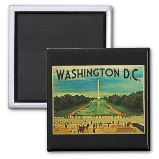 National Mall Washington D.C. Square Magnet