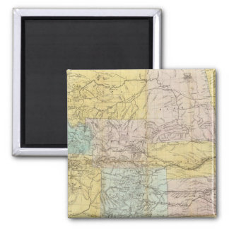 National Map Of The Territory Of The United States Square Magnet