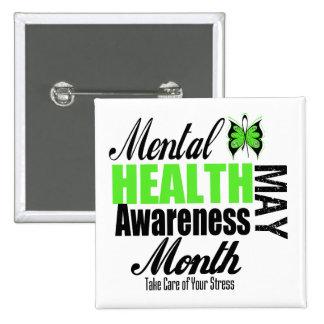 National Mental Health Awareness Month 15 Cm Square Badge