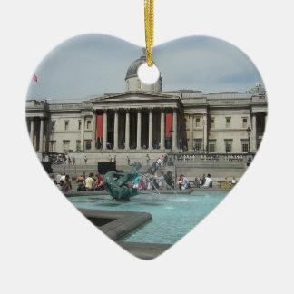 National Museum - Trafalgar Square Ceramic Heart Decoration
