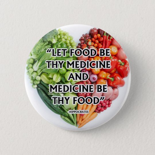 National nutrition month 6 cm round badge