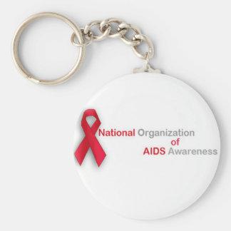 National Organization of Aids Awareness Basic Round Button Key Ring