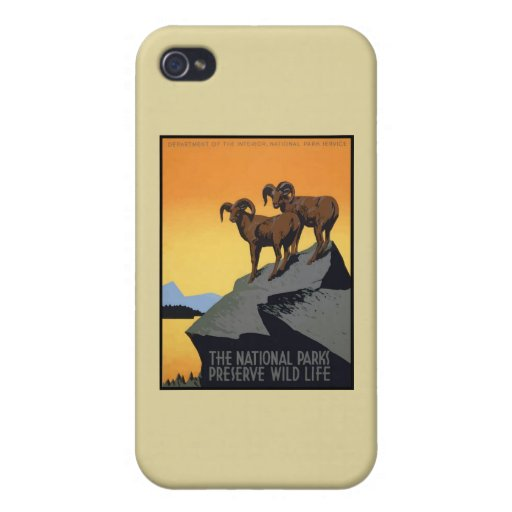 National Parks Preserve Wild Life iPhone 4 Covers