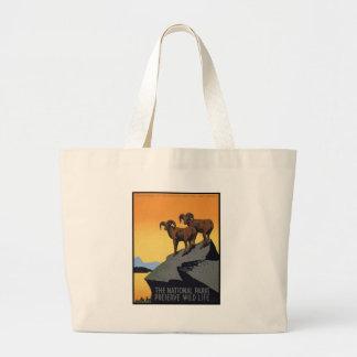 National Parks Preserve Wild Life Jumbo Tote Bag