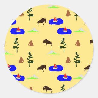 national parks round sticker