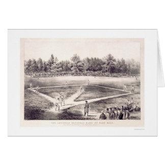 National Pastime Baseball 1866 Greeting Card