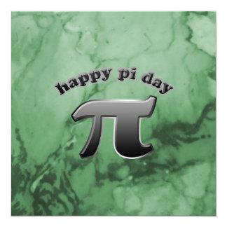 National Pi Day Pi Symbol for Math Nerds March 14 13 Cm X 13 Cm Square Invitation Card