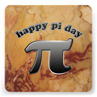 National Pi Day Pi Symbol for Math Nerds March 14 Custom Announcements
