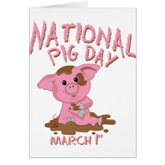 National pig day card