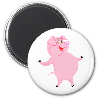 National Pig Day March 1st 6 Cm Round Magnet