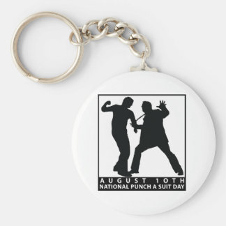 NATIONAL PUNCH A SUIT DAY BASIC ROUND BUTTON KEY RING