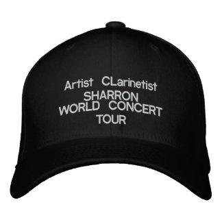 "National Recording Artist Clarinetist: ""SHARRON!"" Embroidered Hat"