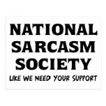 National Sarcasm Postcards