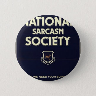 National-Sarcasm-Society 6 Cm Round Badge