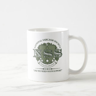 National Sarcasm Society Basic White Mug
