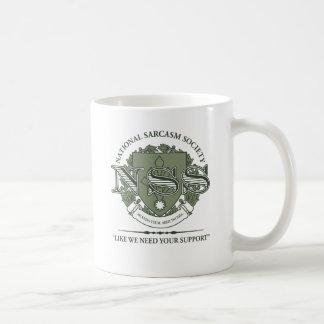 National Sarcasm Society Basic White Mug