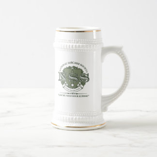 National Sarcasm Society Beer Steins