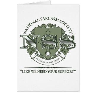 National Sarcasm Society Greeting Cards