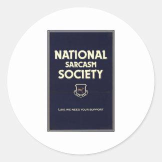 National-Sarcasm-Society Classic Round Sticker