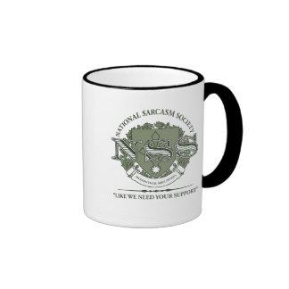 National Sarcasm Society Ringer Mug