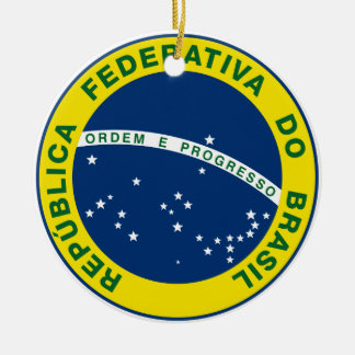 National Seal of Brazil Round Ceramic Decoration