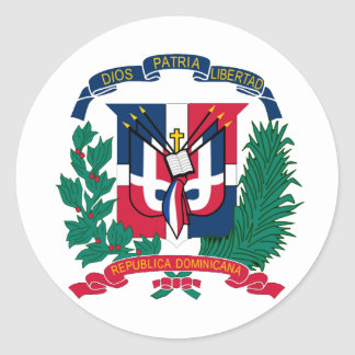 National Seal of The Dominican Republic Round Sticker