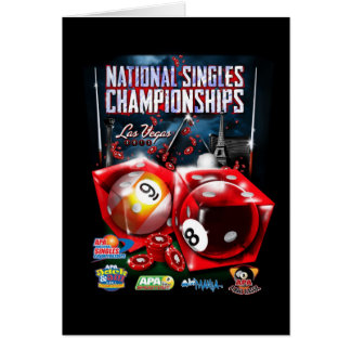 National Singles Championships - Dice Design Card