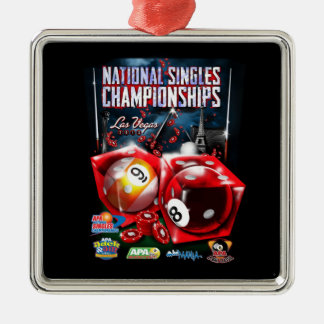 National Singles Championships - Dice Design Christmas Ornament