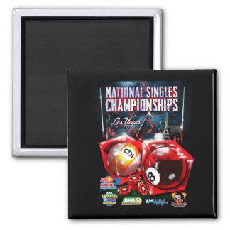 National Singles Championships - Dice Design Square Magnet