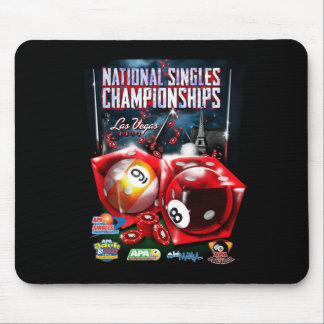 National Singles Championships - Dice Design Mouse Pad