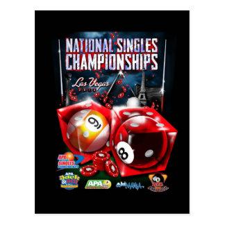 National Singles Championships - Dice Design Postcard