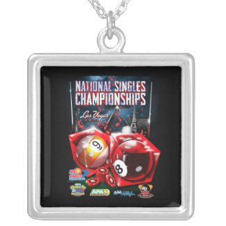 National Singles Championships - Dice Design Silver Plated Necklace
