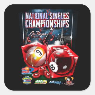 National Singles Championships - Dice Design Square Sticker