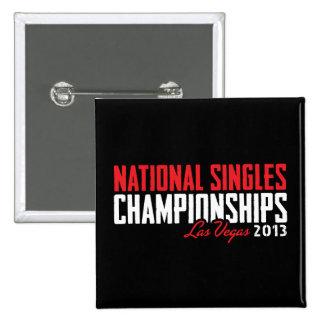 National Singles Championships Las Vegas 2013 15 Cm Square Badge