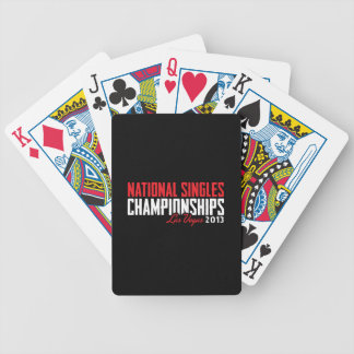 National Singles Championships Las Vegas 2013 Bicycle Playing Cards