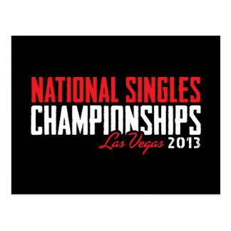 National Singles Championships Las Vegas 2013 Postcard