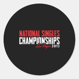 National Singles Championships Las Vegas 2013 Round Sticker