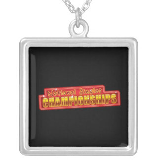 National Singles Championships Silver Plated Necklace