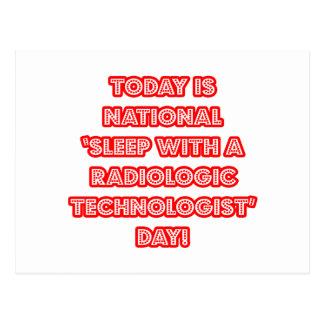 National 'Sleep With a Radiologic Tech' Day Postcard