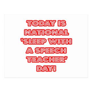 National 'Sleep With a Speech Teacher' Day Postcard