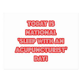 National 'Sleep With an Acupuncturist' Day Postcard